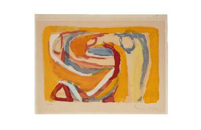 Bram VAN VELDE (1895-1981)  Sans titre, 1972...