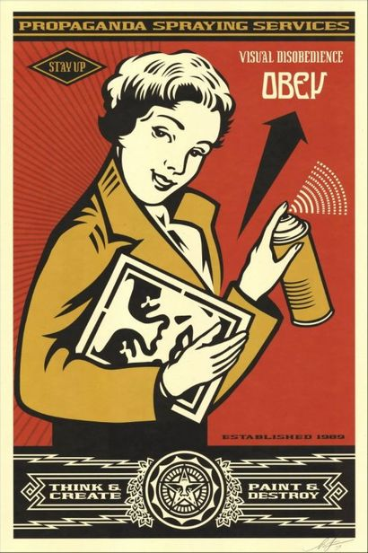 Shepard FAIREY (born in 1978)  Stay Up Girl...