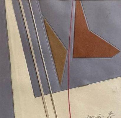 Silvano BOZZOLINI (1911-1998)  Collage, 1988...