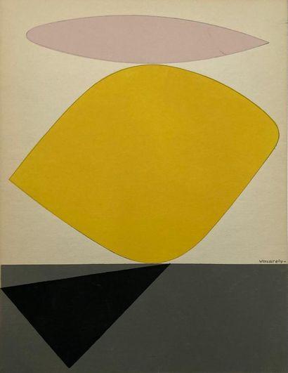 Victor VASARELY (1906-1997)  Sauzon, 1952...