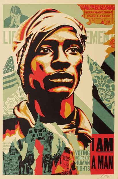 Shepard FAIREY (born in 1978)  Voting Rights are Human Rights, 2020  Offset printing,...