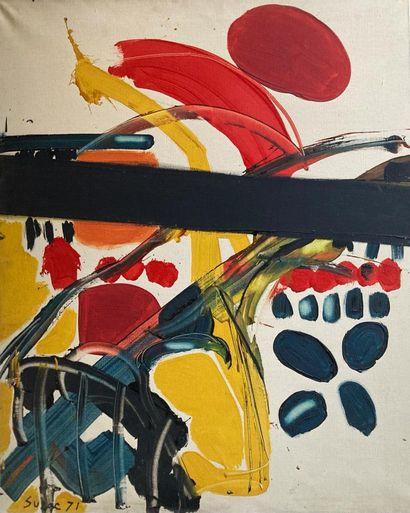 Suzy SUZAC  Nature, 1971  Acrylique sur toile...