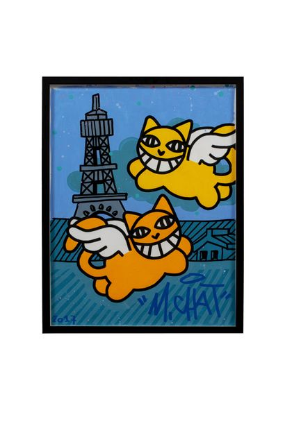 MR Cat (born 1977)  On the Roofs of Paris,...