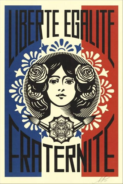 Shepard FAIREY (born in 1978)  Freedom, Equality,...
