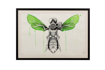 LUDO (born 1976)   Bee with mask, 2013  Lithograph...