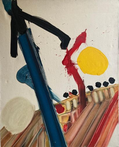 Suzy SUZAC  Composition  Acrylique sur toile...