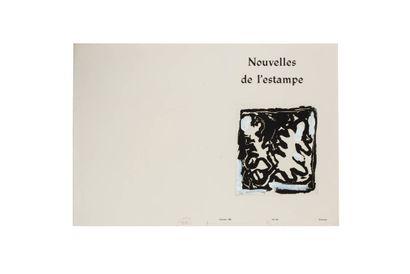 Projets de couverture pour Les Nouvelles de l'Estampe, n°100, Octobre 1988: ensemble...