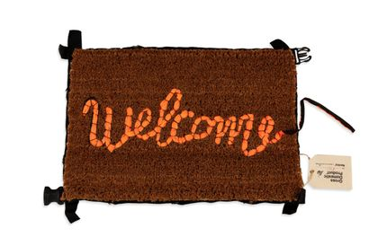 BANKSY (born 1974)  Welcome mat, 2019  Hand-embroidered...