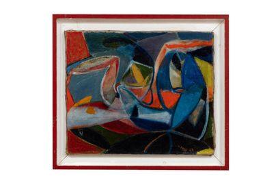 Jean PONS (1913-2005)  Sans titre, 1947  Huile...
