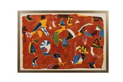 Jan VOSS (né en 1936)  Sans titre, 1990  Lithographie...