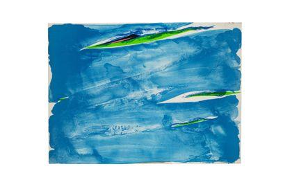 Olivier DEBRE (1920-1999)  Bleu de Loire,...