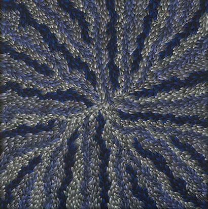 Abie Loy Kemarre (1972 - )  Leaf  Acrylique...