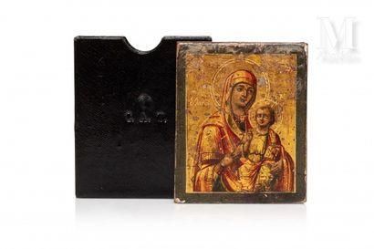 Icône de voyage de la Mère de Dieu Eleousa.