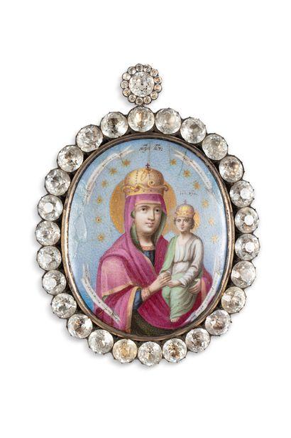 Panagia figurant la Mère de Dieu dite «Caution des pêcheurs»