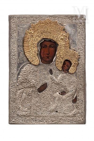 Icône de la Mère de Dieu Częstochowa dite la Vierge Noire de Pologne.