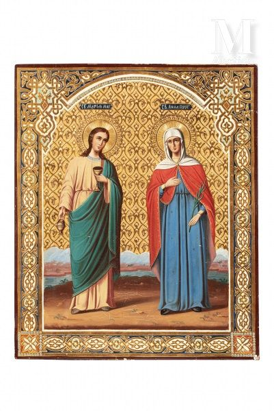 Icône de Sainte Maria et Sainte Anna.