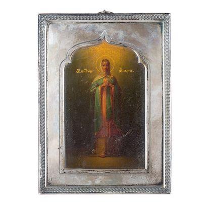 Icône de la Sainte Princesse Olga, par PLATONOV.