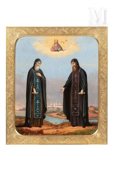 Icône de Saint Serge et Saint Herman de Valaam.
