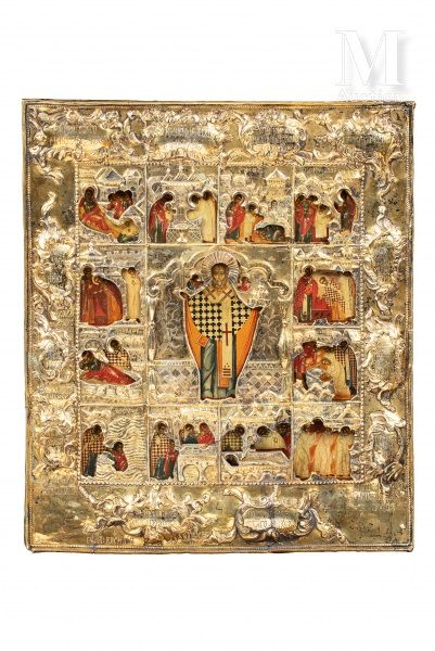 Icône de la vie de Saint Nicolas.