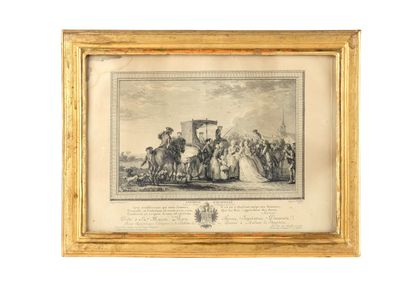 Gravure de F. Godefroy d'après Jean-Michel Moreau le Jeune