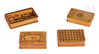 Book-shaped sewing box decorated with crosses...