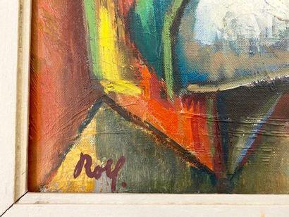 Rolf HIRSCHLAND (1907-1972) Portrait de femme  Huile sur toile d'origine  81,5 x...