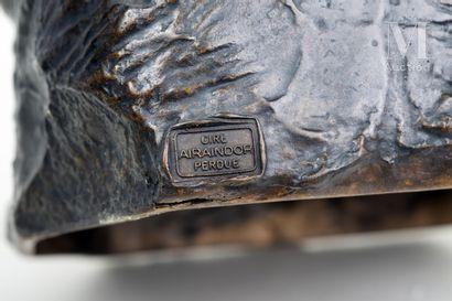 D'après Auguste RODIN La toilette de Venus  Sculpture en bronze à patine brune d'édition...