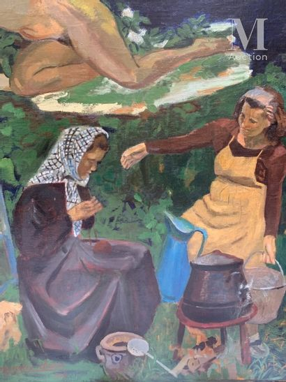 Pierre Eugène CLAIRIN (Cambrai 1897- Saint Loup de Naud 1980) La vie heureuse, 1948...