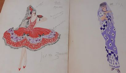 Jean TOTH (1899 - 1972)  Ballerines  Lot...