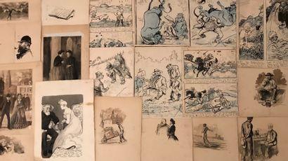 Sénario et divers dessins  48 feuilles