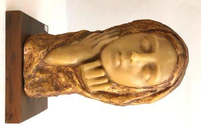 Paul Gaston DEPREZ (1872-1941)  La femme drapée  Sculpture en cire et terre-cuite...