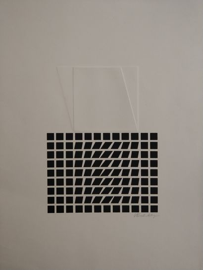 Victor VASARELY (1906-1997)  Lithographie...