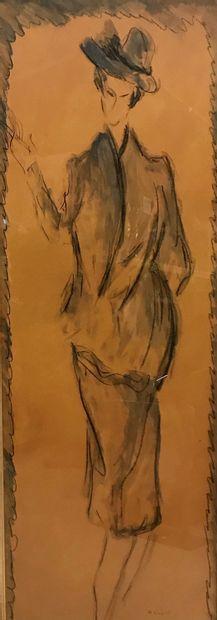 Henri SAINT CLAIR (1899 - 1990)  Elégante...