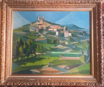 Maurice MULOT (1919-2014)  Paysage provençal...