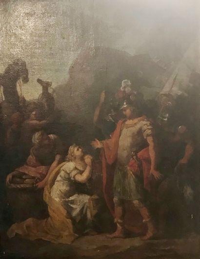 Ecole francaise du XVIIIème siècle  Scène...