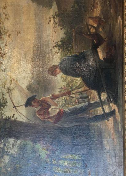 Ecole française du XIXeme siècle  Conversation...