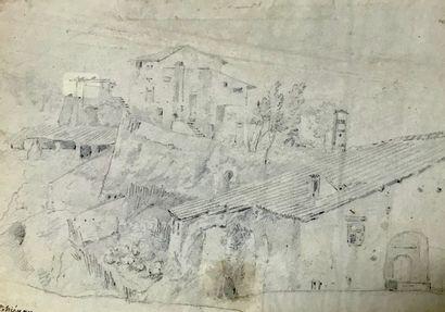 Claude I THIENON (1772-1846)  Dessin au crayon...
