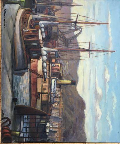 Sauveur TERRACCIANO (1908-1981)  Vieux Port...