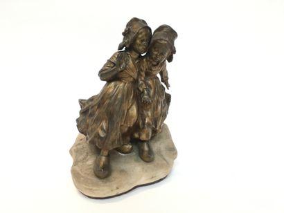 Joseph DASTE (1881-1945)  Jeunes filles  Bronze...
