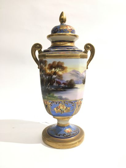 JAPON Noritake  Vase en porcelaine à décor...