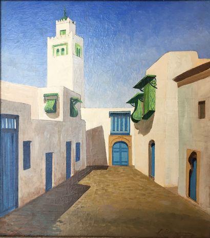 Louis BERNASCONI (1905-1987)  Minaret de...
