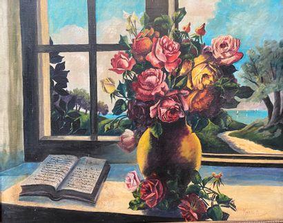 Mathilde PIERRE, (1944)  Entablement au bouquet...