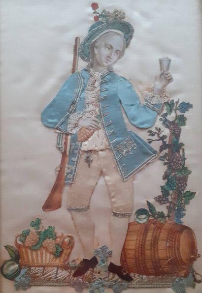 France, XVIIIe siècle  Allégories des quatre...