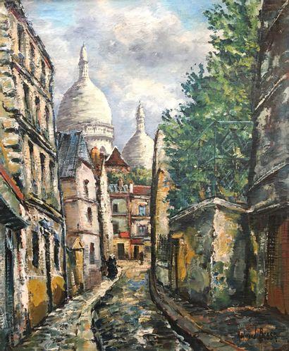 Raymond BESSE (1899-1969)  Rue Saint Rustique,...