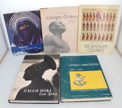 5 ouvrages:  SAHARA, ENTRE ATLANTIQUE ET NIL  CONGO OCEAN : de Brazzaville à Pointe...