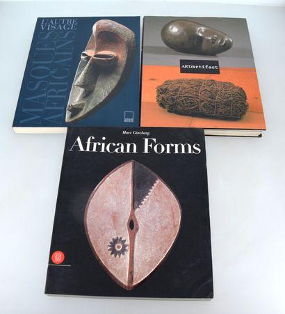 3 ouvrages :  L'AUTRE VISAGE : masques africains  ART/Artifact  AFRICAN FORMS