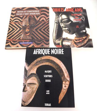3 ouvrages:  RITES ET COUTUMES DANS L'ART AFRICAIN  MEYER Laure : OBJETS AFRICAINS,...