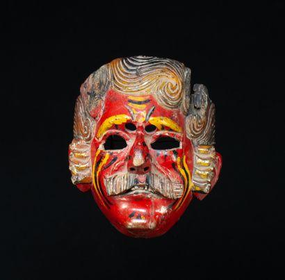 Masque de danse  présentant un visage d'espagnol...