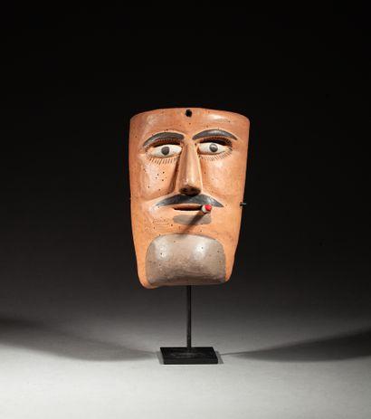 Masque de danse Tlacololeros  porté par un...