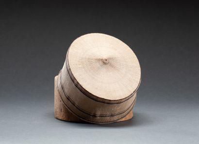 Rare chapeau  en fibres de palmier tressées...